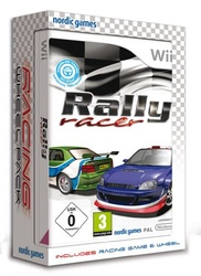 Rally Racer With Wheel Nintendo Wii