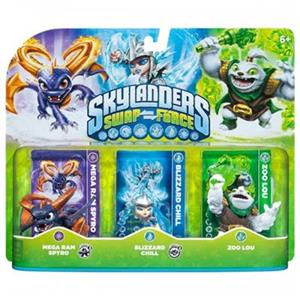 Set 3 Figurine Skylanders Swap Force Mega Ram Spyro, Blizzard Chill, Zoo Lou