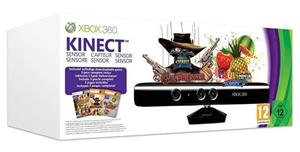 Set Kinect Sensor Bundle Kinect Adventures Fruit Ninja And Gunstringer Xbox360