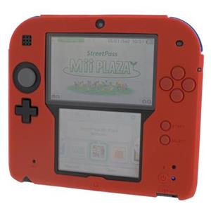 Silicone Protective Cover For Nintendo 2DS Red