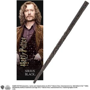Sirius Black PVC Wand and Prismatic Bookmark by The Noble Collection