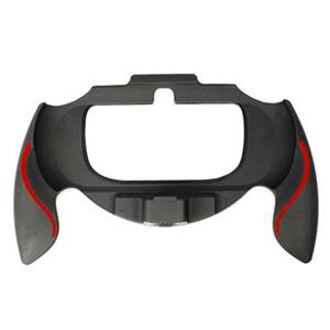 Soft Touch Grip Handle Attachment Black and Red Assecure PS Vita