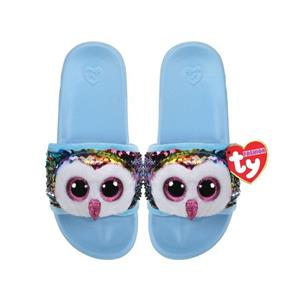 Ty Plush - Sequin Slides - Owen the Owl (Size: 36-38) (TY95663)