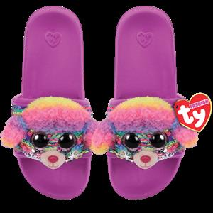 Ty Plush - Sequin Slides - Rainbow the Poodle (Size: 36-38) (TY95665)