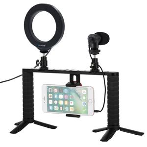 Vlog Platform With Led Lamp And Microphone Smartphone Puluz