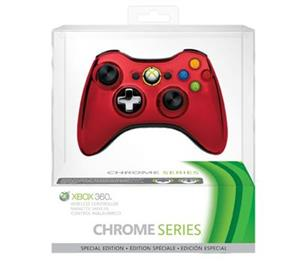 Xbox 360 Controller Wireless Chrome Red X360